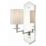 Currey & Company Lighting Hopper Swing-Arm Wall Sconce 5000-0114 - Polished Nickel/Clear