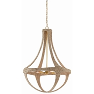 Currey & Company Lighting Ibiza Chandelier 9000-0385 - Natural/Dark Contemporary Gold Leaf