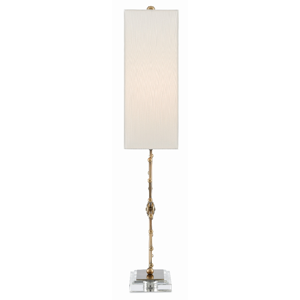 Currey & Company Lighting Jewella Table Lamp 6000-0359 - Antique Brass/Clear