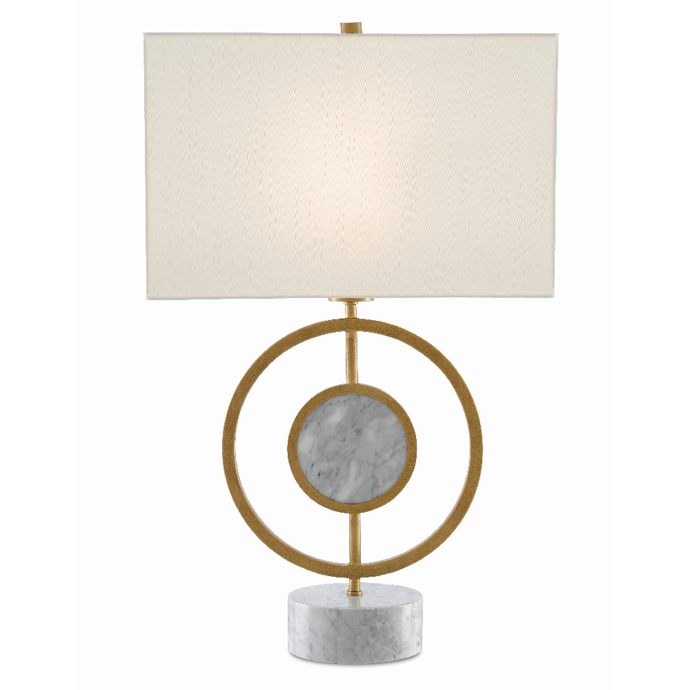 Currey & Company Lighting Kalena Table Lamp 6000-0391 - Light Antique Brass/White