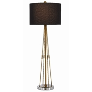 Currey & Company Lighting Kayth Table Lamp 6000-0360 - Antique Brass/Clear