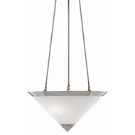 Currey & Company Lighting Latimer Pendant 9000-0416 - Polished Nickel/Frosted White