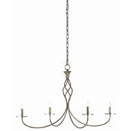 Currey & Company Lighting Lionel Chandelier 9000-0418 - Pyrite Bronze/Clear