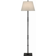 Currey & Company Lighting Lohn Floor Lamp 8000-0049 - Mole Black