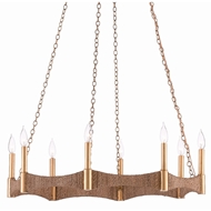 Currey & Company Lighting Mallorca Chandelier 9000-0402 - Natural/Dark Contemporary Gold Leaf