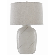Currey & Company Lighting Marbre Table Lamp 6000-0421 - Stone/Contemporary Silver Leaf