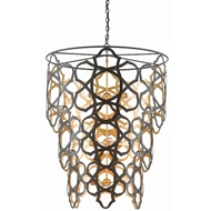 Currey & Company Lighting Mauresque Chandelier 9000-0381 - Bronze Gold/Contemporary Gold Leaf