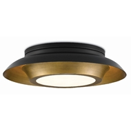 Currey & Company Lighting Metaphor Flush Mount 9999-0045 - Painted Antique Brass/Painted Black