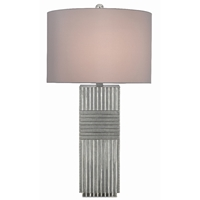 Currey & Company Lighting Odense Silver Table Lamp