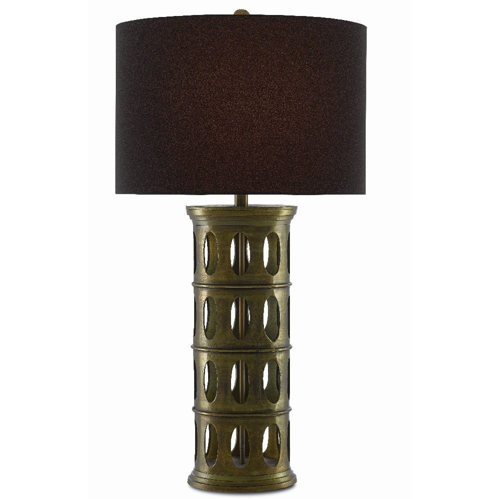 Currey & Company Lighting Quintus Table Lamp 6000-0415 - Antique Brass