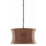 Currey & Company Lighting Riad Pendant 9000-0422 - Antique Copper/Satin Black