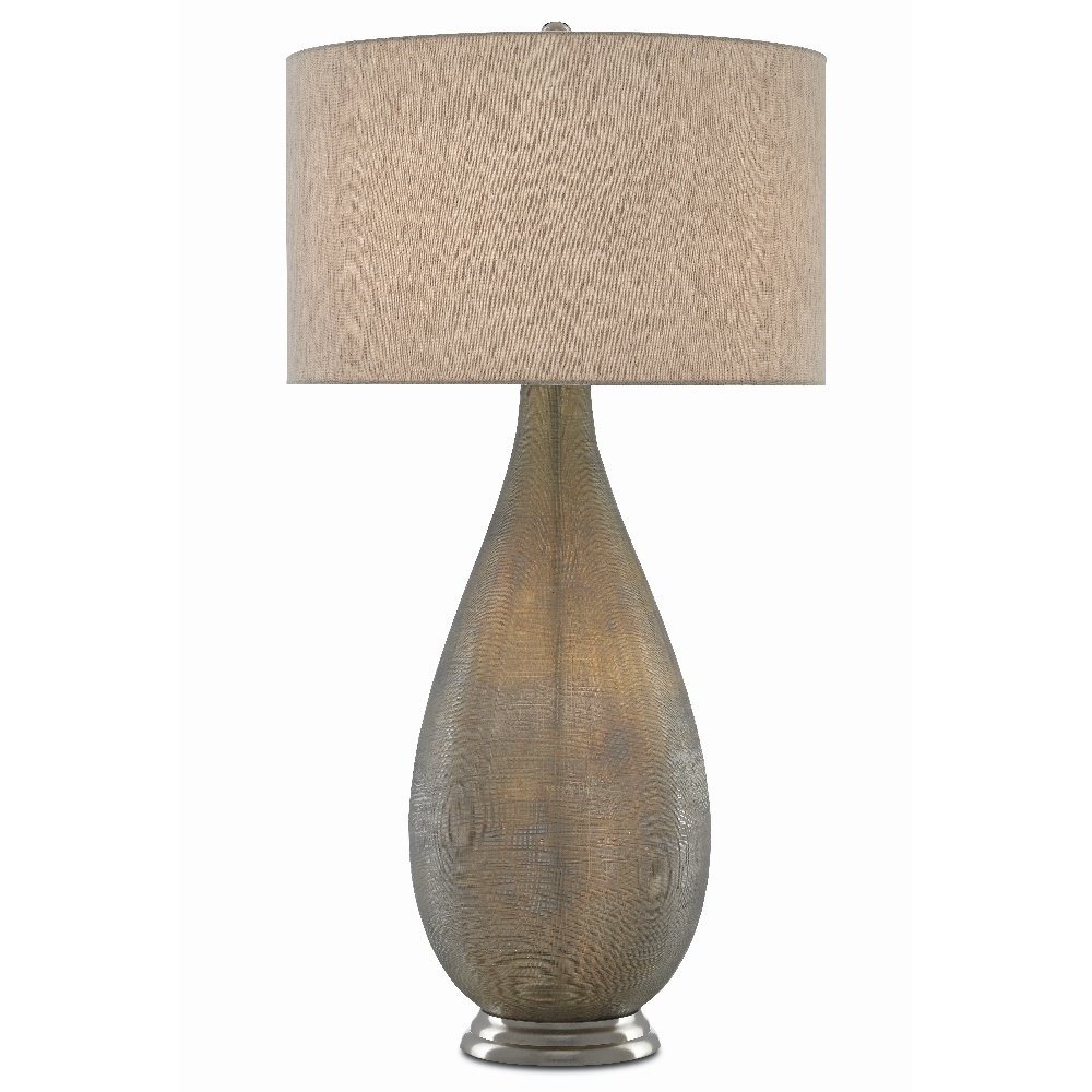 Currey & Company Lighting Serres Table Lamp 6000-0419 - Textured Gray/Nickel