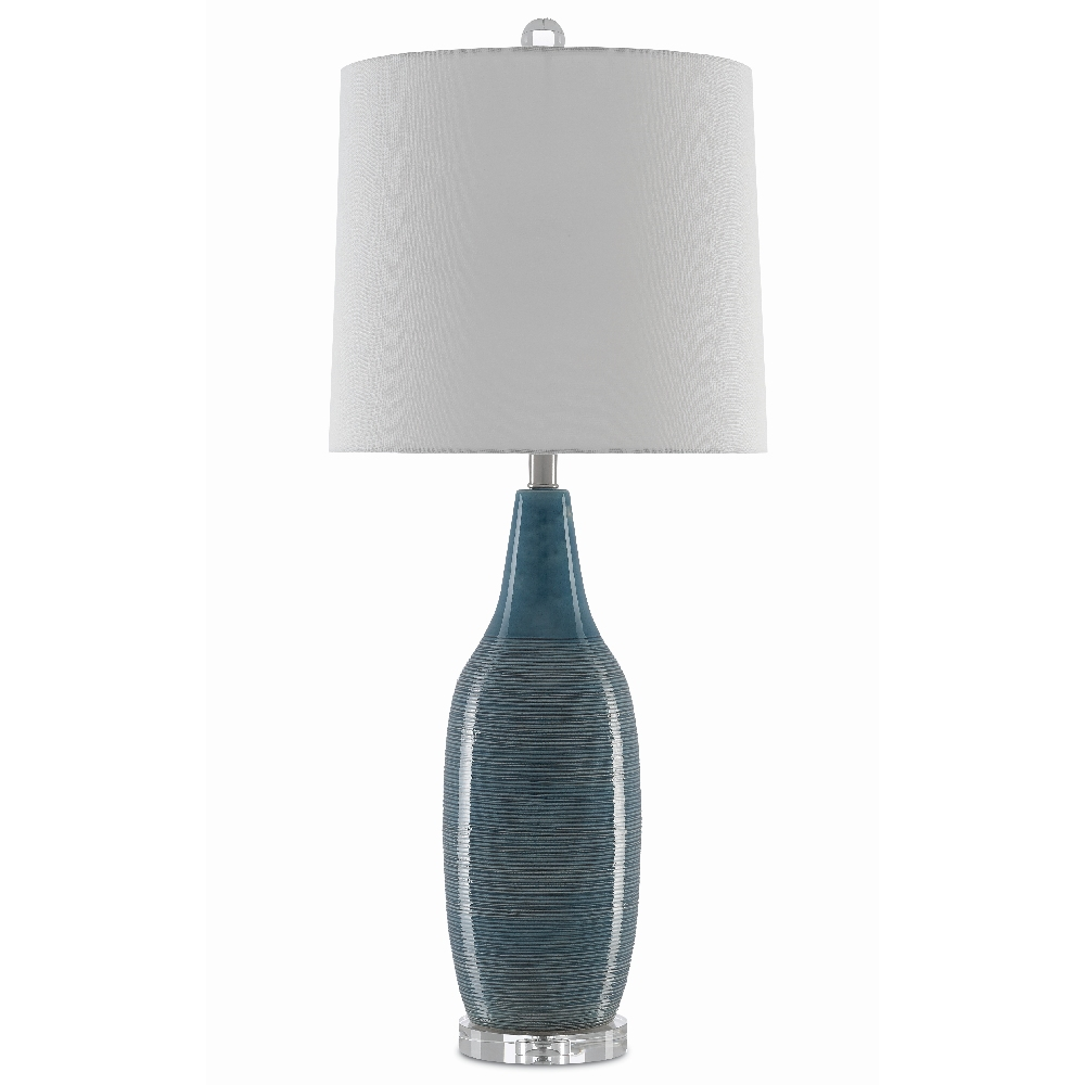Currey & Company Lighting Shasta Table Lamp 6000-0381 - Teal/Clear