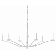 Currey & Company Lighting Tallu Chandelier 9000-0377 - Rough Gesso White