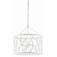 Currey & Company Lighting Treece Chandelier 9000-0375 - Gesso White