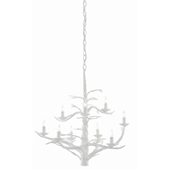 Currey & Company Lighting Treetop White Large Chandelier 9000-0428 - Gesso White