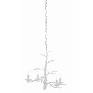Currey & Company Lighting Treetop White Small Chandelier 9000-0427 - Gesso White
