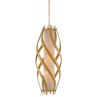 Currey & Company Lighting Trephine Large Pendant 9000-0379 - Contemporary Gold Leaf/Painted Gold