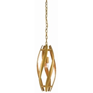 Currey & Company Lighting Trephine Small Pendant 9000-0432 - Contemporary Gold Leaf/Painted Gold