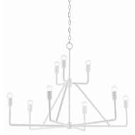 Currey & Company Lighting Trilling Chandelier 9000-0378 - Gesso White
