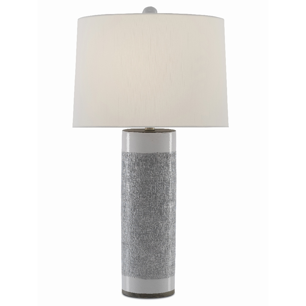 Currey & Company Lighting Westmoore Table Lamp 6000-0422 - Putty/White/Contemporary Silver Leaf