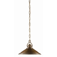Currey & Company Lighting Weybright Pendant 9000-0407 - Vintage Brass