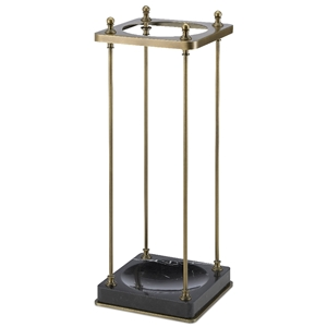 Currey & Company Home Barton Umbrella Stand 1000-0062 - Antique Brass/Black