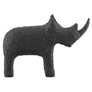 Currey & Company Home Kano Black Large Rhino 1200-0064 - Textured Matte Black