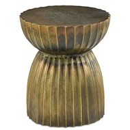 Currey & Company Home Rasi Antique Brass Table/Stool 4000-0075 - Antique Brass