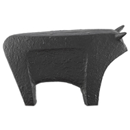 Currey & Company Home Sampson Black Large Bull 1200-0062 - Textured Matte Black