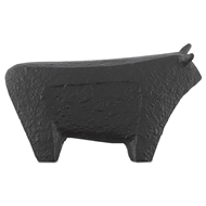 Currey & Company Home Sampson Black Small Bull 1200-0061 - Textured Matte Black