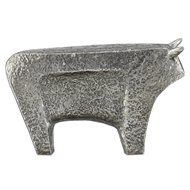 Currey & Company Home Sampson Silver Large Bull 1200-0081 - Textured Silver