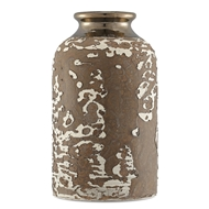 Currey & Company Home Tawny Small Vase 1200-0058 - Tawny Reactive Glaze/Metallic Bronze