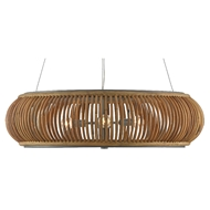 Currey & Company Lighting Africa Chandelier 9000-0501 - Natural/Hiroshi Gray