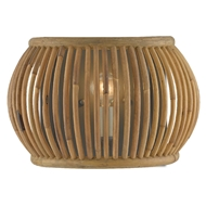 Currey & Company Lighting Africa Wall Sconce 5000-0135 - Hiroshi Gray/Natural