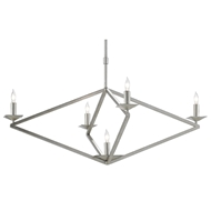 Currey & Company Lighting Agassiz Chandelier 9000-0503 - Contemporary Silver Leaf