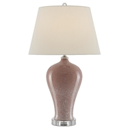Currey & Company Lighting Airtafae Table Lamp 6000-0475 - Pink/Polished Nickel