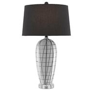 Currey & Company Lighting Alesandria Table Lamp 6000-0453 - White/Black