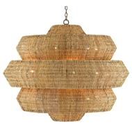 Currey & Company Lighting Antibes Grande Chandelier 9000-0496 - Khaki/Natural