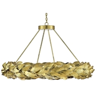 Currey & Company Lighting Apollo Chandelier 9000-0515 - Contemporary Gold Leaf/Painted Gold