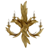 Currey & Company Lighting Apollo Wall Sconce 5000-0132 - Contemporary Gold Leaf