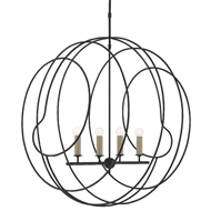 Currey & Company Lighting Auden Orb Chandelier 9000-0448 - Antique Black