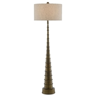 Currey & Company Lighting Auger Floor Lamp 8000-0068 - Antique Brass
