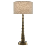 Currey & Company Lighting Auger Large Table Lamp 6000-0483 - Antique Brass
