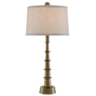 Currey & Company Lighting Auger Small Table Lamp 6000-0510 - Antique Brass