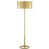 Currey & Company Lighting Babbit Floor Lamp 8000-0069 - Brushed Brass/Polished Brass