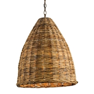 Currey & Company Lighting Basket Pendant 9845 - Natural