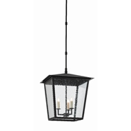 Currey & Company Lighting Bening Large Outdoor Lantern 9500-0002 - Midnight