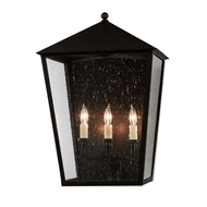 Currey & Company Lighting Bening Large Outdoor Wall Sconce 5500-0010 - Midnight