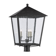 Currey & Company Lighting Bening Large Post Light 9600-0006 - Midnight
